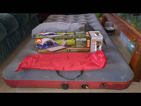 Pillow Pump Sack Demonstration Ozark Trails Air Bed Unboxing & Review