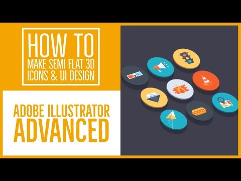 How To Make Semi Flat 3d Icons & Ui Design Illustrator