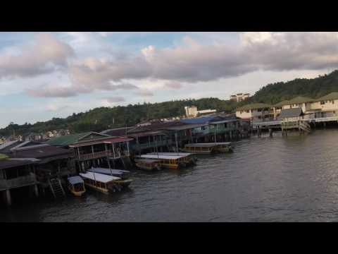 Starting Walking Tour of Kampong Ayer Water Villages in Brunei's Capital