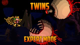 Terraria 1.3 - Twins, Expert Mode Boss Battle