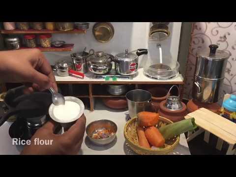 MINIATURE COOKING   TINY AKKI ROTI   BANANA LEAF ROTI   DOLL HOUSE COOKING   RICE ROTI