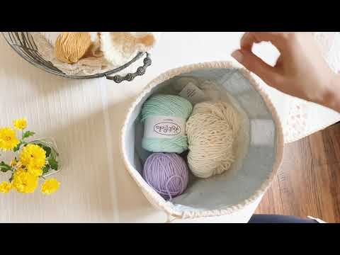 Simple Drawstring Bag / 조리개파우치 / DIY string bag / Patchwork bag / Sewing bag
