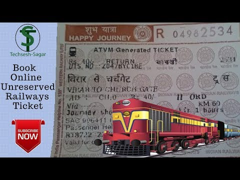 Book Unreserved rail ticket online |Online general rail ticket | Platform tickets