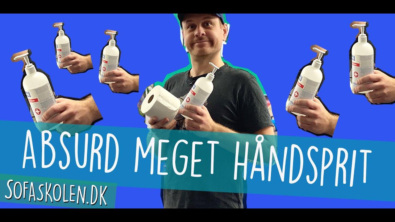 Sofaskolen hamstrer håndsprit - Christian Fuhlendorff på besøg