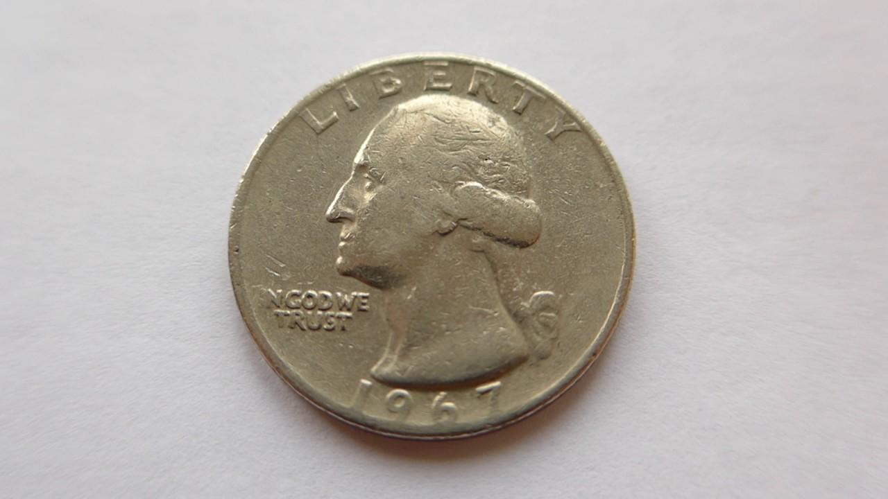 Quarter Dollar Coin Usa 1967 Youtube