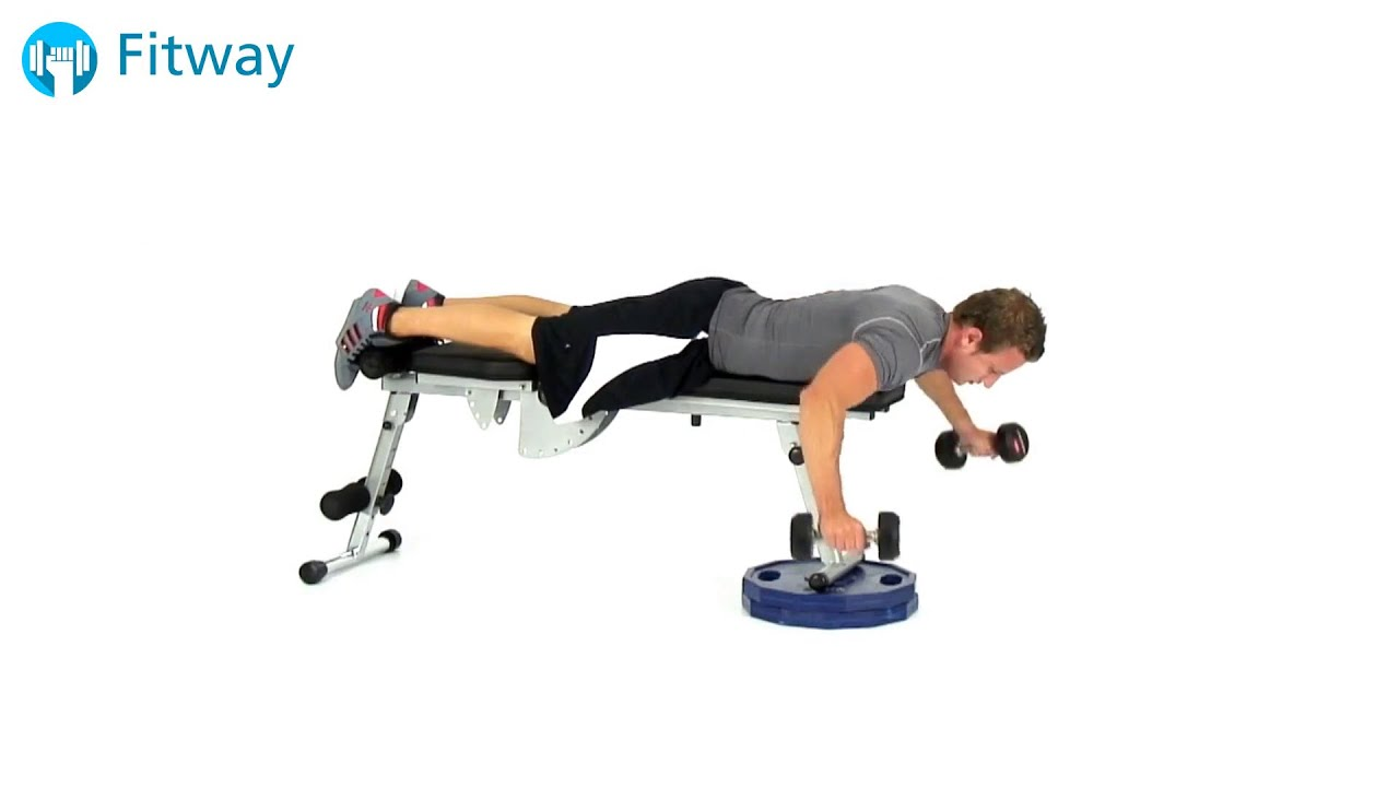 how to do dumbbell fly flat bench prone shoulder