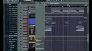 """me making """"Calvin Harris Im Not Alone Deadmau5 Remix"""" in FL studio"""