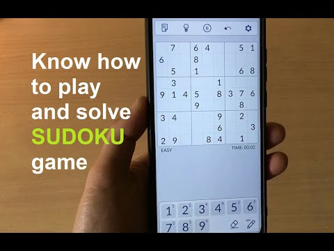 Know how to play and solve SUDOKU game