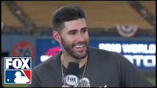 J. D. Martinez joins the FOX MLB crew to discuss his MVP caliber season | FOX MLB