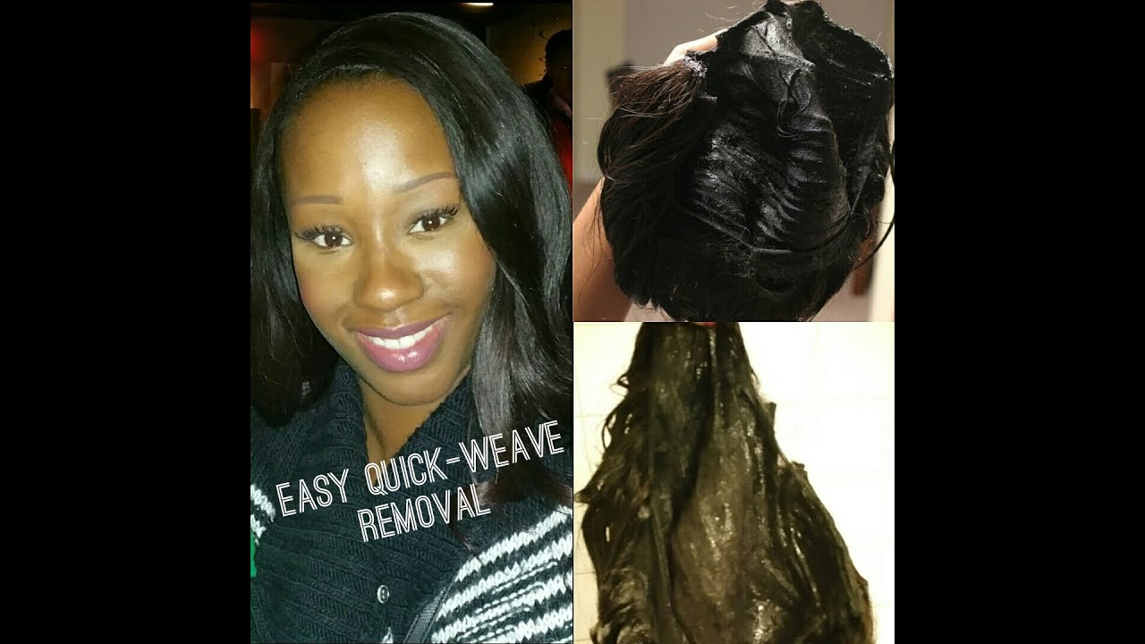 Quick Weave Removal In Minutes Tutorial Youtube