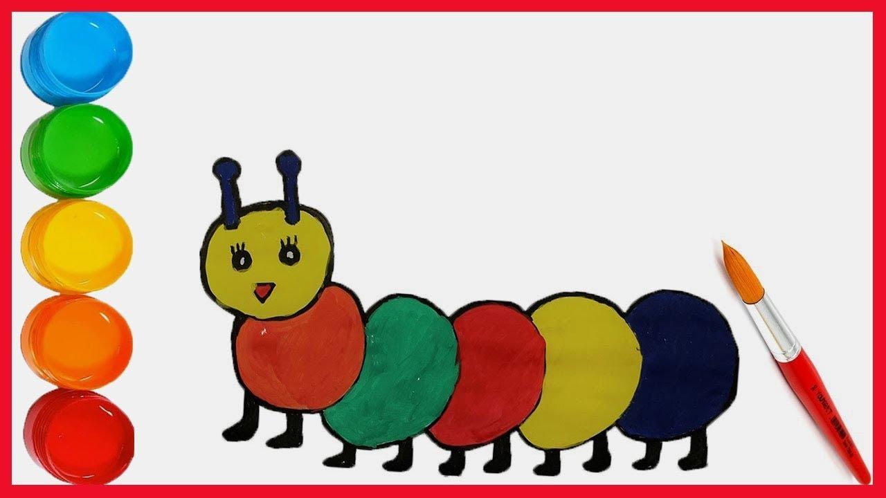 Tirtil Boyama Ile Cocuklar Renkleri Ogreniyor Bisbis Tv Youtube
