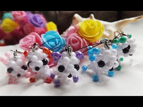 DIY Kawaii Bead Mini Dog Keychain 水晶串珠教学 可爱的迷你小狗挂饰