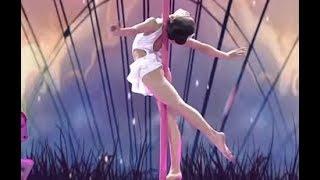 Little Girl Does Pole Dance | CCTV English
