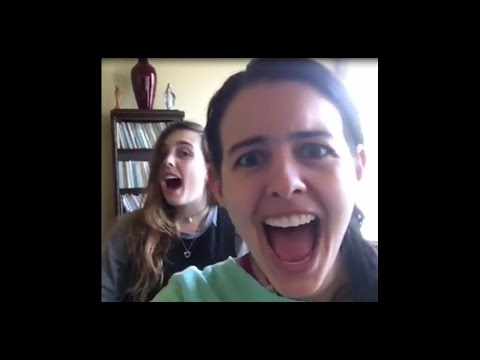 Cimorelli rehearsing for the tour in South America (03.30.2016)