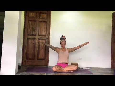Intermediate/Advanced Outer Hip Toning Straddle Press Prep Yoga Flow with Steph Gongora Casa Colibri