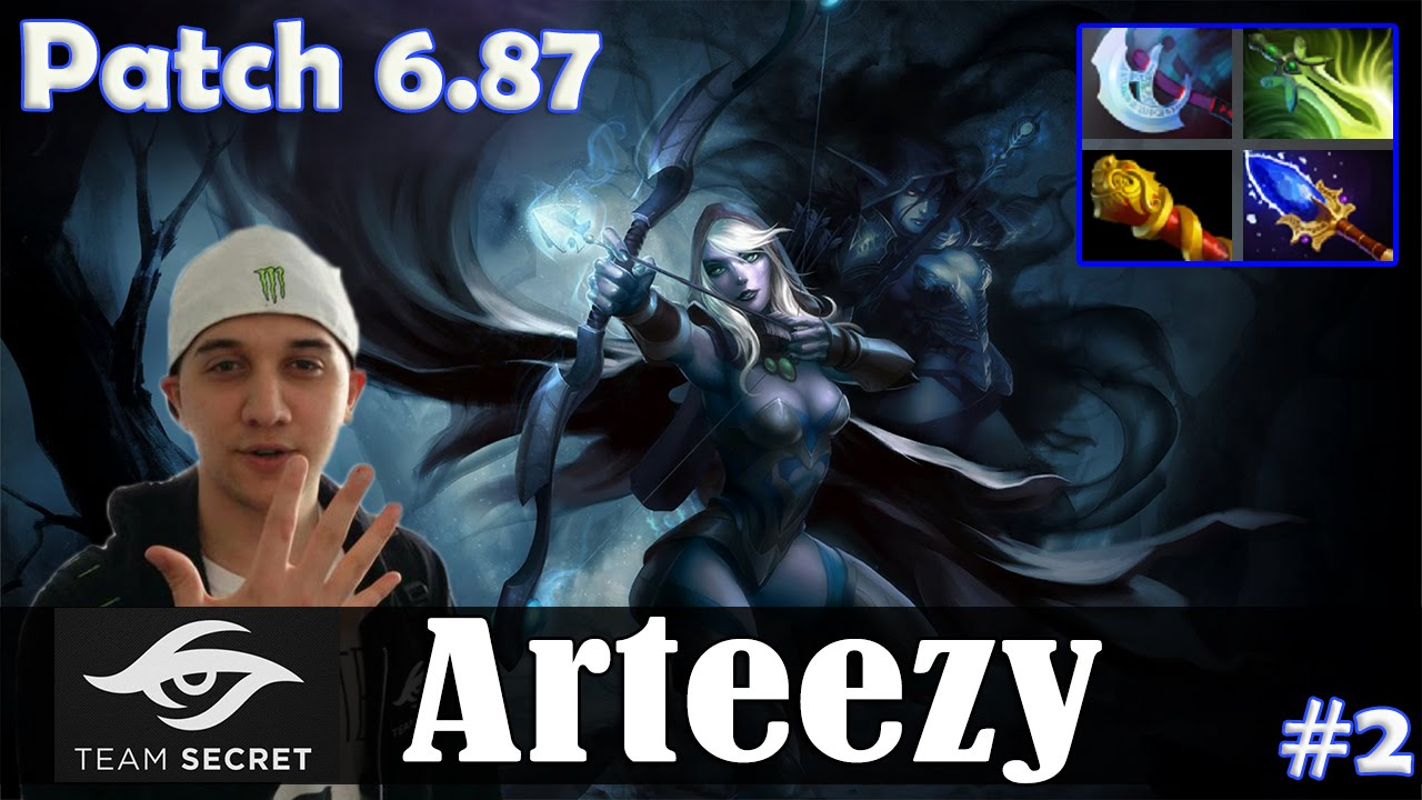 Dota 2 Patch 6 87 Arteezy Drow Ranger Mid Pro Mmr Gameplay 2