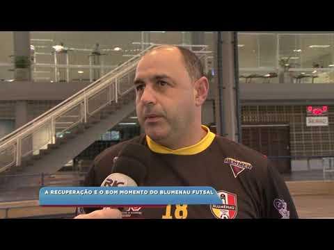 A recuperação e o bom momento do Blumenau Futsal