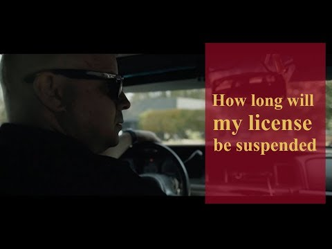 How long will my license be suspended? | Pennsylvania Criminal Defense & Personal Injury Lawyers