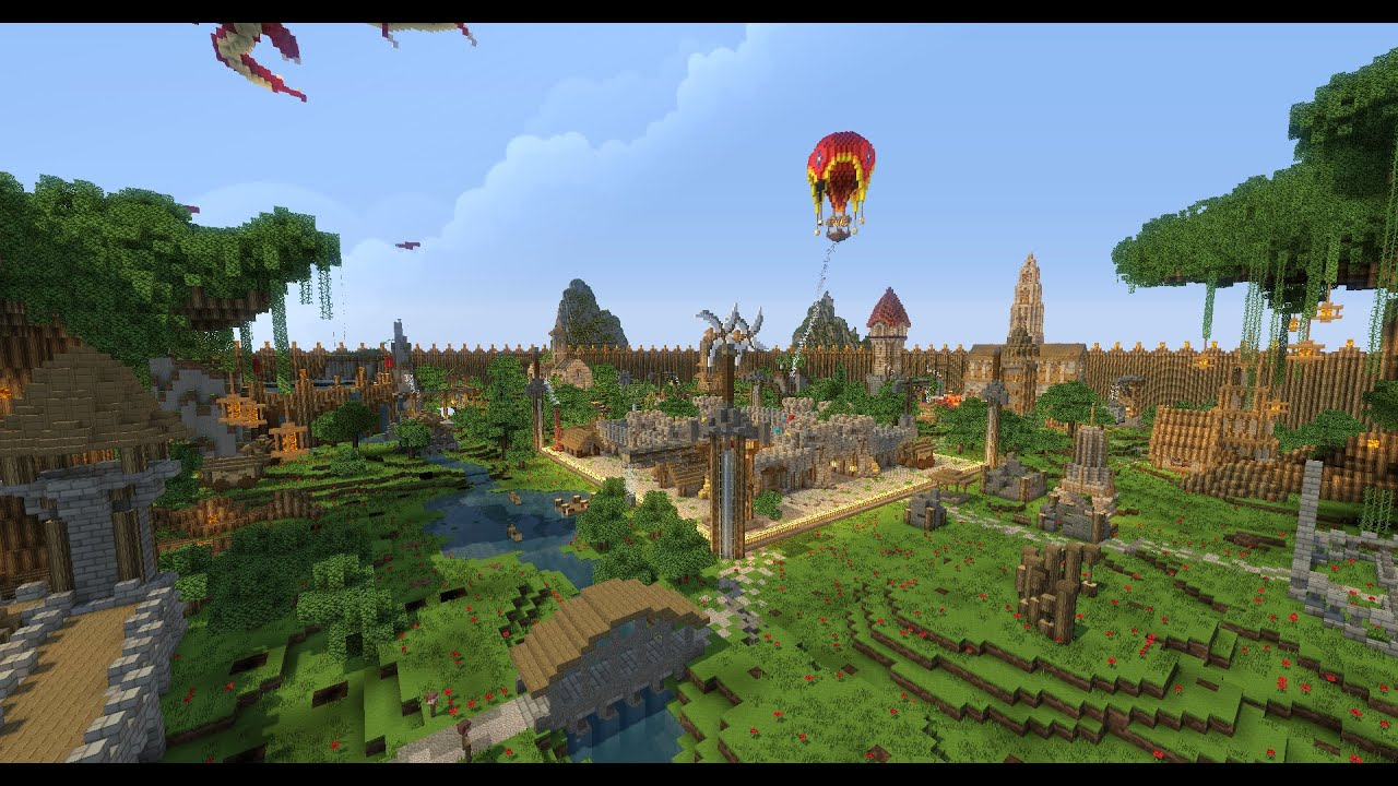 MINECRAFT: Epic PVP Server Map (DOWNLOAD) ! - YouTube