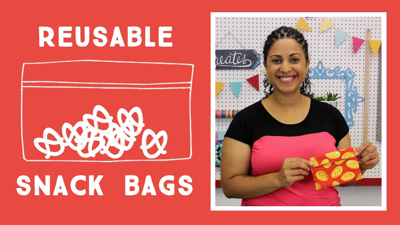 Reusable Snack Bags Easy Craft Tutorial With Vanessa Of Crafty