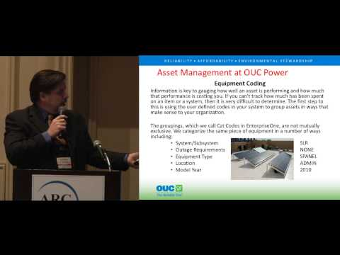 Asset Management at OUC Power, by Orlando Utilities Commission's Fred Yglesia at ARC Forum 2013