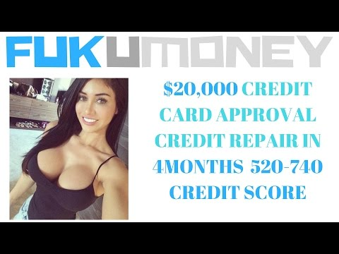 $20,000 CREDIT CARD APPROVAL/ CREDIT REPAIR IN 4MONTHS520-740 CREDIT SCORE