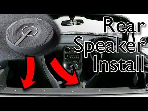 MY MX5: Rear parcel shelf speaker install & restoration