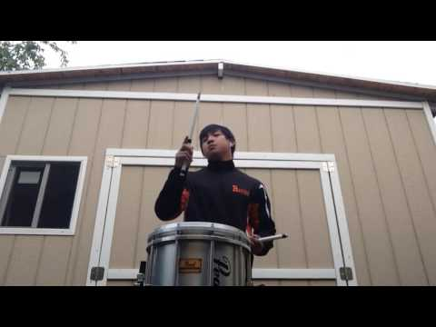 Uptown Funk ft.Bruno Mars (Marching Snare Cover)