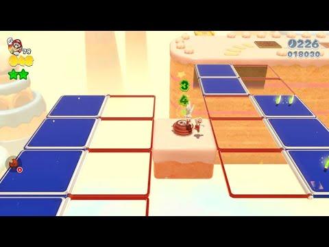 Super Mario 3D World: 5-6 Cakewalk Flip (100 % All Stars & Stamp) [Gameplay Walkthrough]