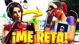 CHICA GAMER CHALLENGES me for THE NEW SKIN OF BOMBARDERA BEACH à FORTNITE!.. 🔥😱