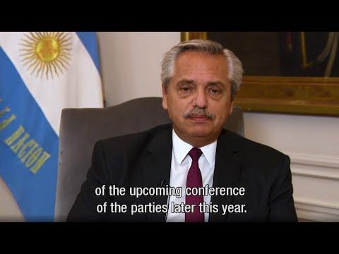 Alberto Fernández sostuvo que Argentina confirma su compromiso con la agenda climática