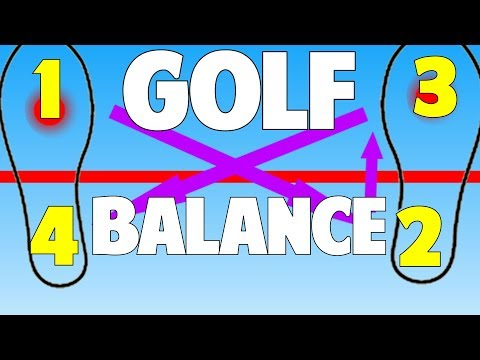 Golf Balance Drill | Easy Step By Step Progression