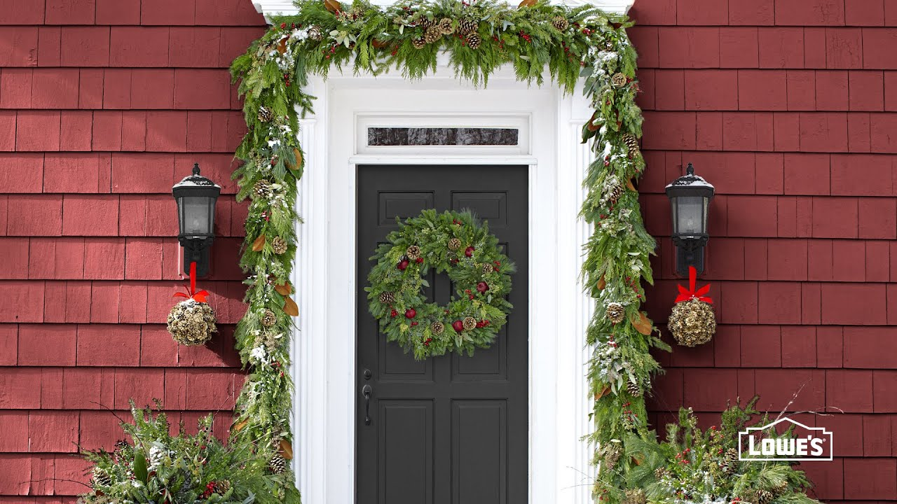 holiday front door decorating ideas youtube - Front Door Christmas Decorations Ideas