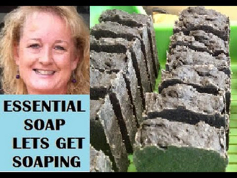 How to make Black African Soap (New Essential Oil Recipe)