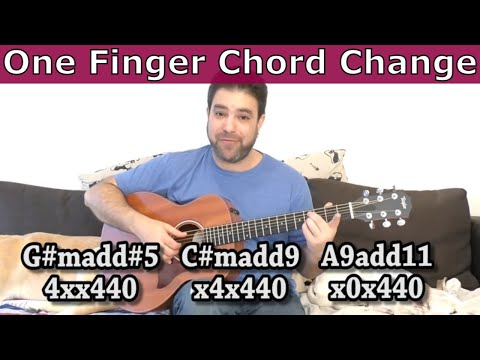 Lesson: The One-Finger Chord Change [My FAVORITE Fingerstyle Guitar Trick] - Tutorial w/ TAB