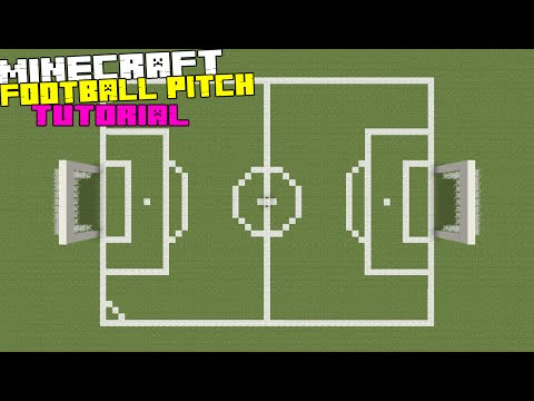 Minecraft Tutorial: How To Make A Football/Soccer Pitch