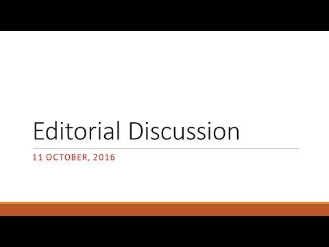 11/10/16 Editorial Analysis