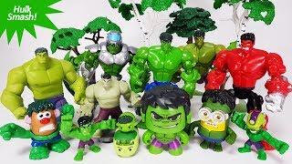 Hulk Toys Collection. Disney Infinity 2.0 Hulk, Marvel Villains vs Avengers Toys Play
