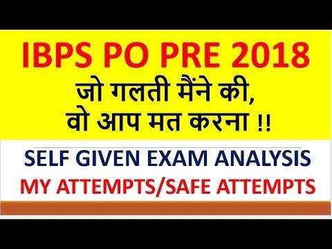 IBPS PO PRE!!Self given Exam analysis!!13 Oct.