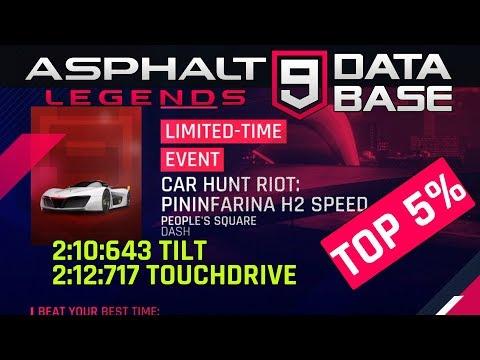 Asphalt 9: Pininfarina Car Hunt Riot Best Route Top 5%
