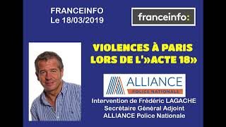 VIOLENCES A PARIS LORS DE L'ACTE 18