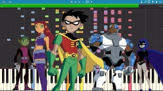 IMPOSSIBLE REMIX - Teen Titans Theme - Piano Cover