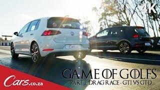 Drag Race: VW Golf GTI vs Golf GTD