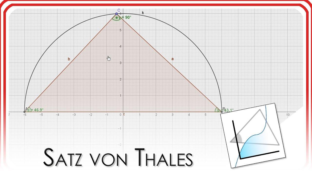 Satz von Thales | GeoGebra EasyGoing - YouTube
