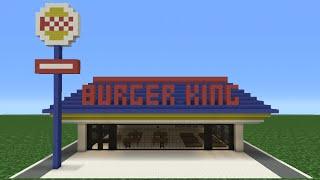 ماين كرافت البرنامج التعليمي: كيفية جعل برغر كينغ (مطعم)