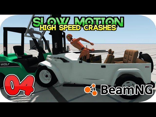BEAMNG DRIVE SLOW MOTION HIGH SPEED CRASH