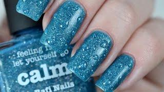 Матовый дизайн ногтей Капли дождя | Matte Dots Drops Nail Art