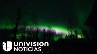 Así coloreó una aurora boreal el cielo de Alaska
