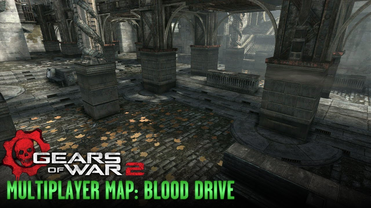 Gears of War 2 - Multiplayer Maps and Weapons - Blood Drive on halo 3: odst, tekken 2 maps, left 4 dead, left 4 dead 2, call of duty waw maps, unreal 2 maps, company of heroes 2 maps, guild wars 2 maps, dead space, god of war, call of duty: advanced warfare maps, halo: combat evolved, unreal engine, mortal kombat 2 maps, red dead redemption, the elder scrolls v: skyrim, gears of war 1 maps, call of duty: modern warfare 3, metal gear 2 maps, advance wars 2 maps, dark souls 2 maps, dying light 2 maps, goat simulator maps, dante's inferno maps, the crew maps, gears of war 4 maps, call of duty: world at war, marcus fenix, halo: reach, epic games, call of duty mw2 maps, call of duty: modern warfare 2, gears of war 3, call of duty 2 maps, the last of us maps, mass effect 2, star wars battlefront 2 maps,
