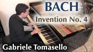 Bach Two-Part Invention No.4 in d minor, piano.
